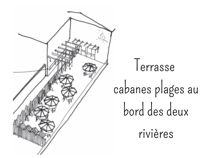 terrasse cabanes plages rivières terre adelice le moulinon