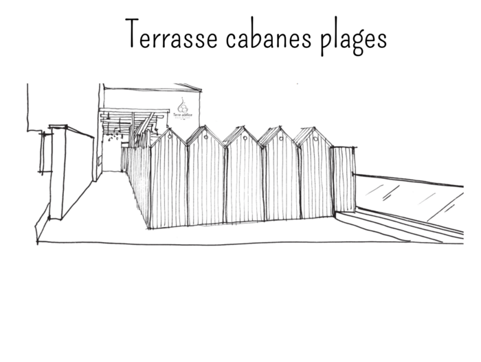 terrasse cabanes plages terre adelice le moulinon
